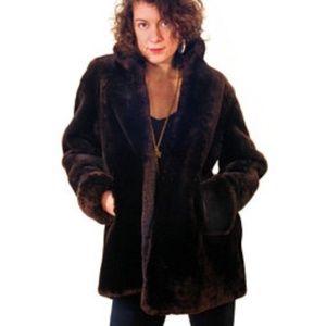 Vintage Davidson's Fur Brown Mouton Jacket XL